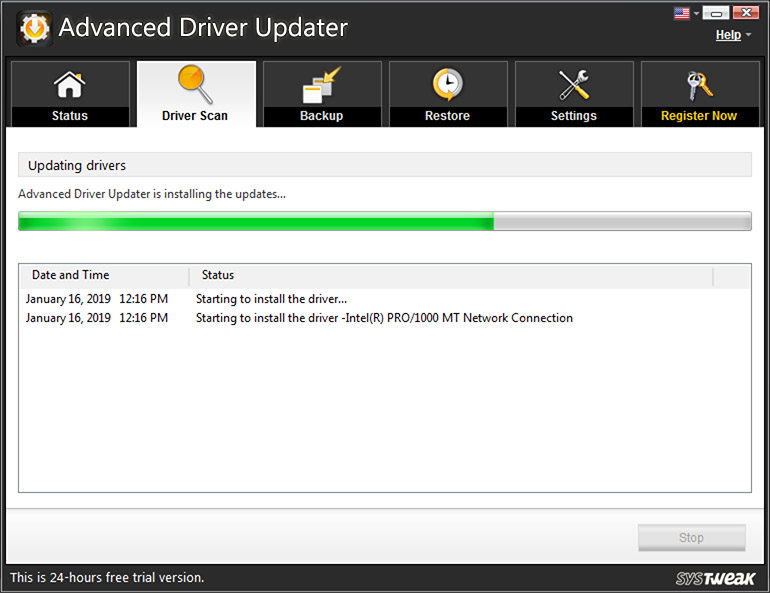 Downloading Drivers