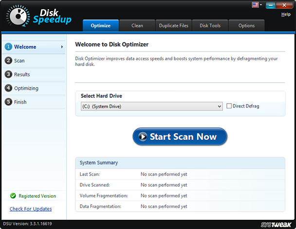 Welcome to Disk Optimizer